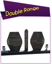 Granite Tombstone Double Range